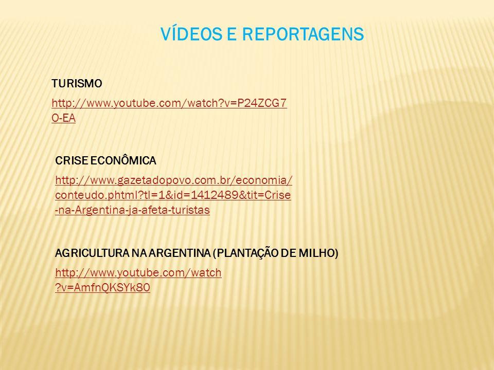 VÍDEOS E REPORTAGENS http://www.youtube.com/watch?v=P24ZCG7 O-EA TURISMO CRISE ECONÔMICA http://www.gazetadopovo.com.br/economia/ conteudo.phtml?tl=1&