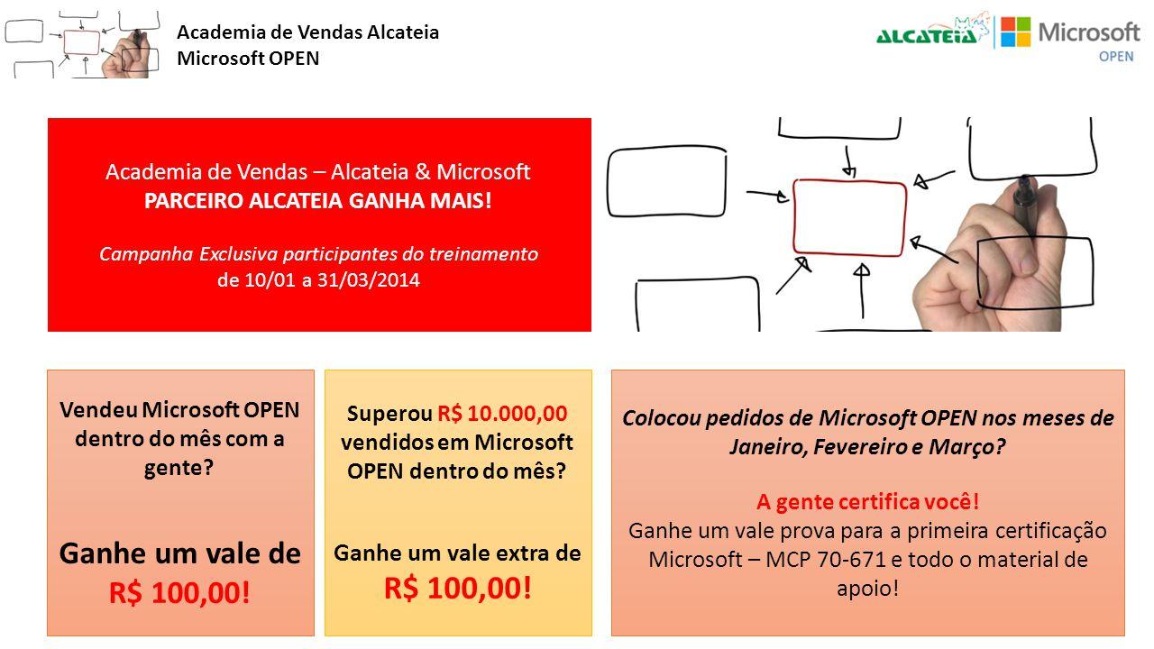 Academia de Vendas Alcateia Microsoft OPEN Academia de Vendas – Alcateia & Microsoft PARCEIRO ALCATEIA GANHA MAIS! Campanha Exclusiva participantes do