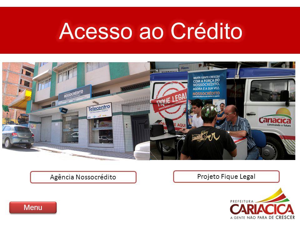Agência Nossocrédito Projeto Fique Legal Menu