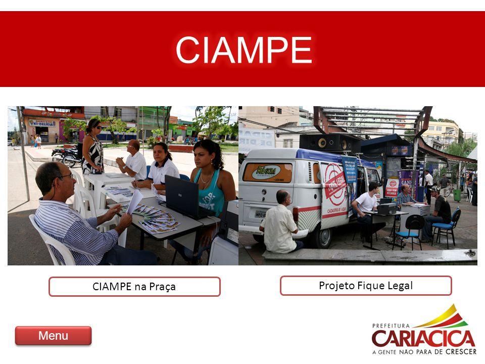 CIAMPE na Praça Projeto Fique Legal Menu