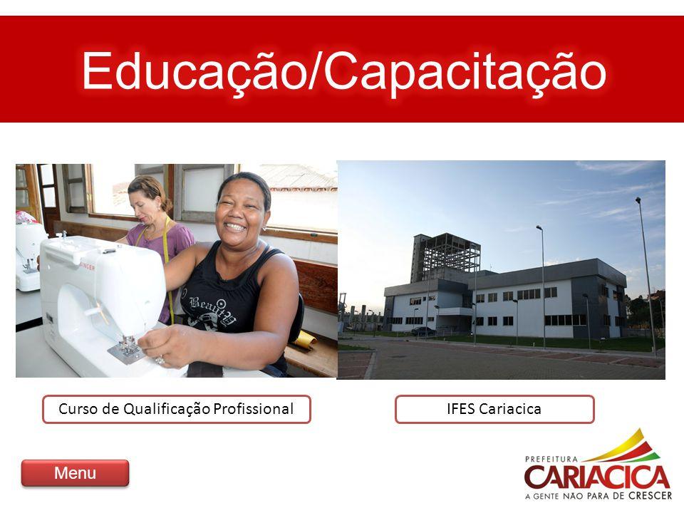 Curso de Qualificação ProfissionalIFES Cariacica Menu