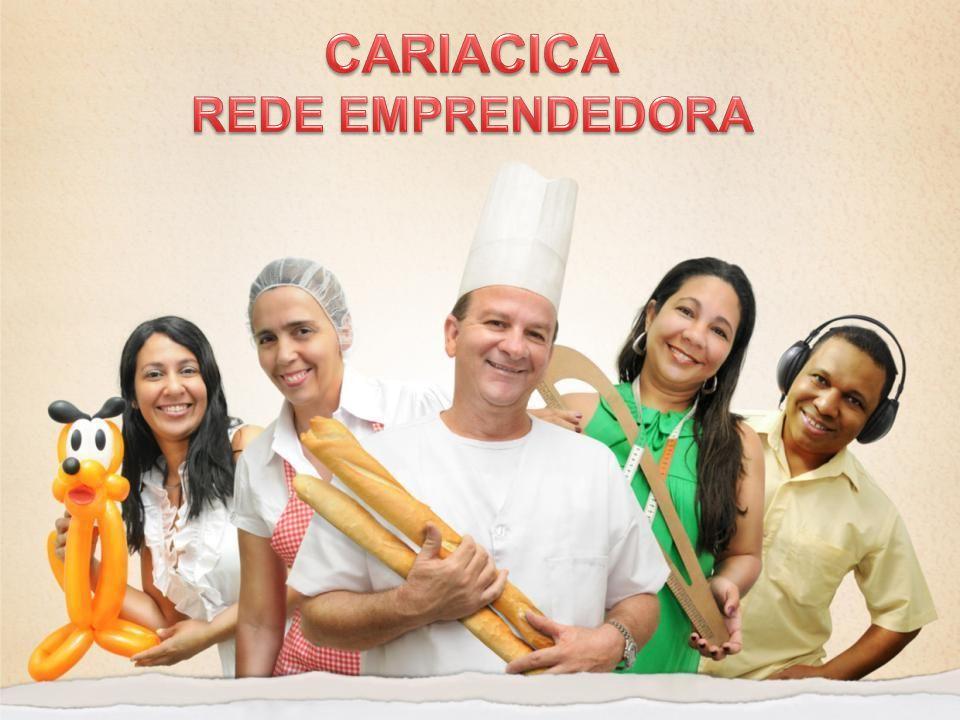 CARIACICA REDE EMPREENDEDORA Participação da Sociedade Acesso ao Crédito CIAMPELegislação Estímulo ao Mercado Educação/ Capacitação Ciência e Tecnologia Serviços OnlineAssociativismo Difusão e Intercâmbio CARIACICA REDE EMPREENDEDORA