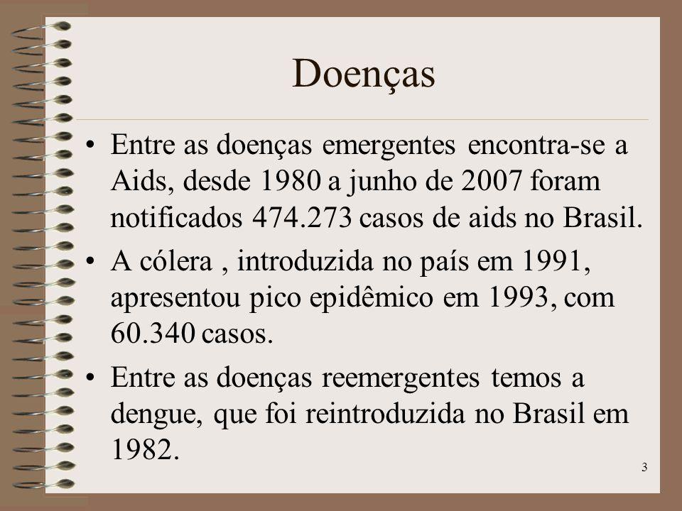 4 Fatores envolvidos na determinação de emergências e reemergência de doenças infecciosas Fatores Demográficos: a população mundial cresce, a um rítmo de aproximadamente 70 milhões ao ano.