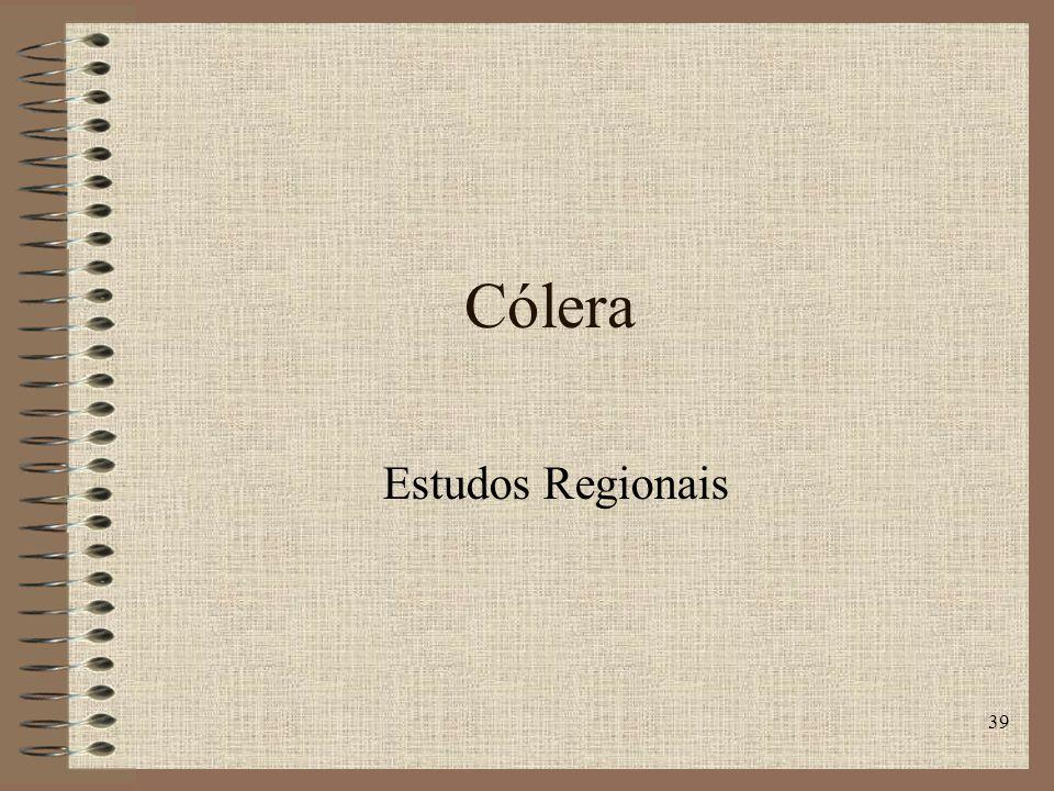 39 Cólera Estudos Regionais