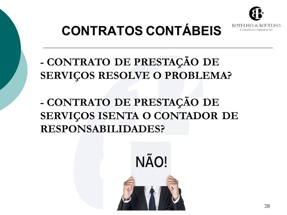 38 CONTRATOS CONTÁBEIS - CONTRATO DE PRESTAÇÃO DE SERVIÇOS RESOLVE O PROBLEMA? - CONTRATO DE PRESTAÇÃO DE SERVIÇOS ISENTA O CONTADOR DE RESPONSABILIDA