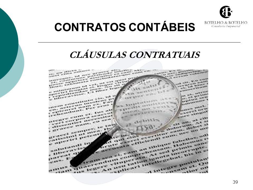 39 CONTRATOS CONTÁBEIS CLÁUSULAS CONTRATUAIS