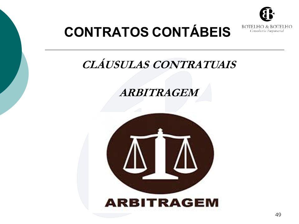49 CONTRATOS CONTÁBEIS CLÁUSULAS CONTRATUAIS ARBITRAGEM