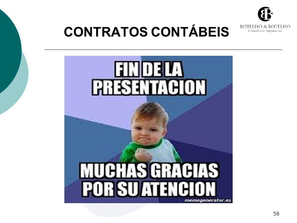 58 CONTRATOS CONTÁBEIS