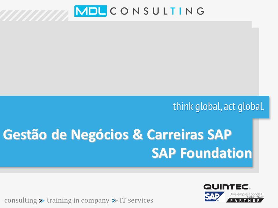Gestão de Negócios & Carreiras SAP SAP Foundation