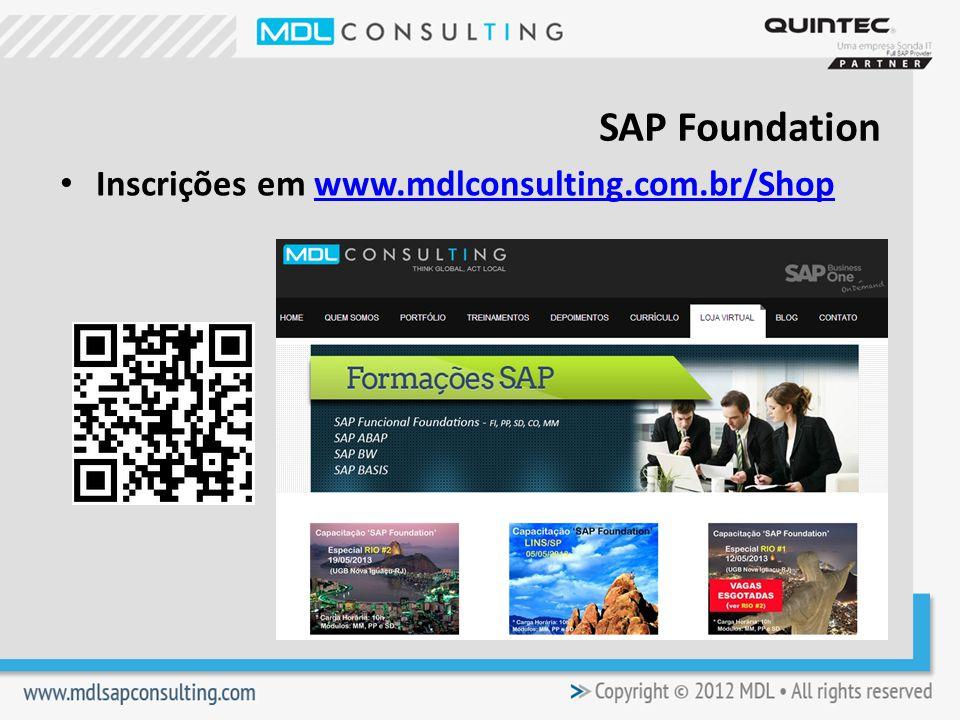 Inscrições em www.mdlconsulting.com.br/Shopwww.mdlconsulting.com.br/Shop