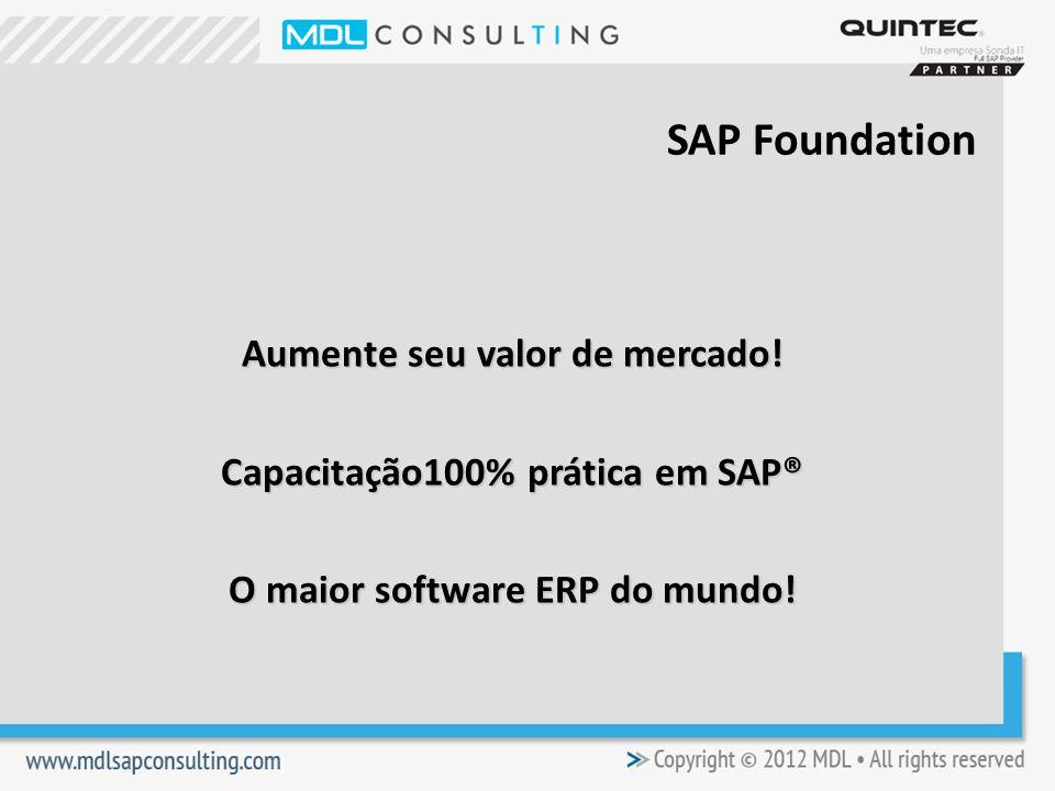 Aumente seu valor de mercado.Capacitação100% prática em SAP® O maior software ERP do mundo.