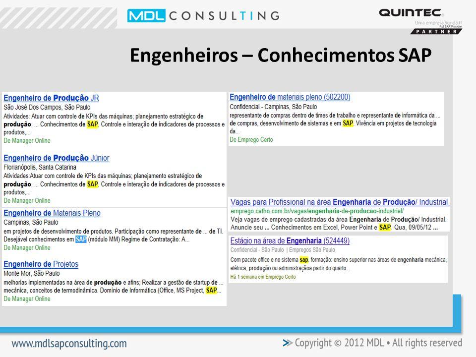 Engenheiros – Conhecimentos SAP
