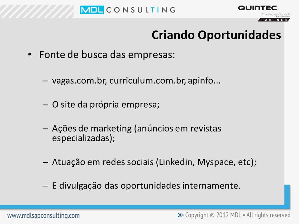 Fonte de busca das empresas: – vagas.com.br, curriculum.com.br, apinfo...