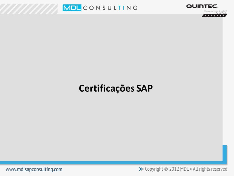 Certificações SAP