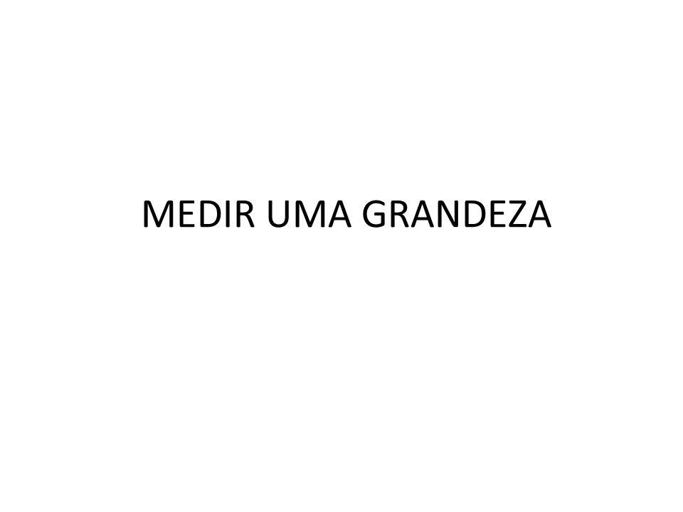 MEDIR UMA GRANDEZA