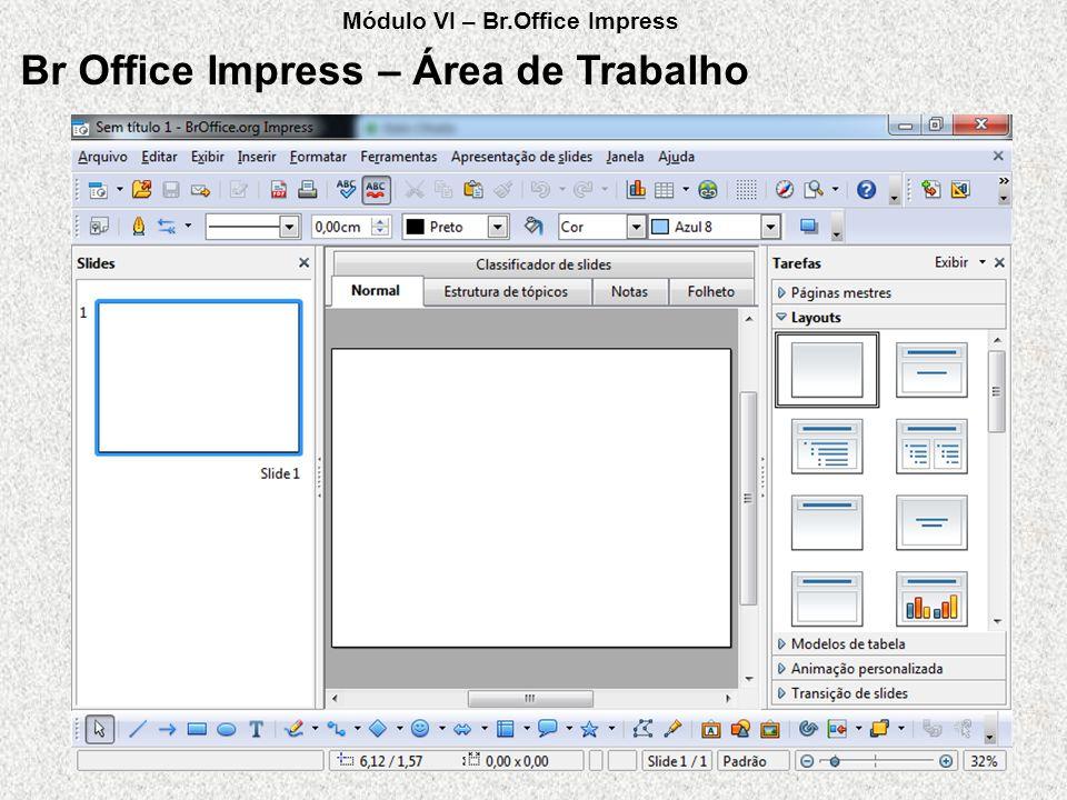 Br Office Impress – Área de Trabalho Módulo VI – Br.Office Impress