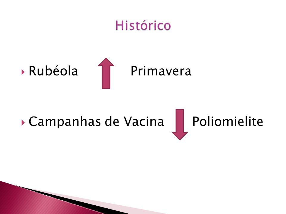 Rubéola Primavera Campanhas de Vacina Poliomielite