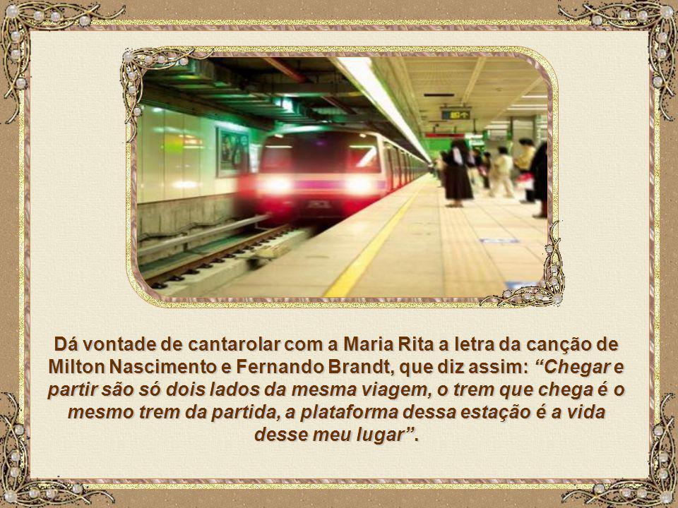... andar de coletivo, metrô ou trem, quem sabe um dia, subir naquele bicho prateado e conseguir voar, sem precisar esperar tanto que a vida flua, que