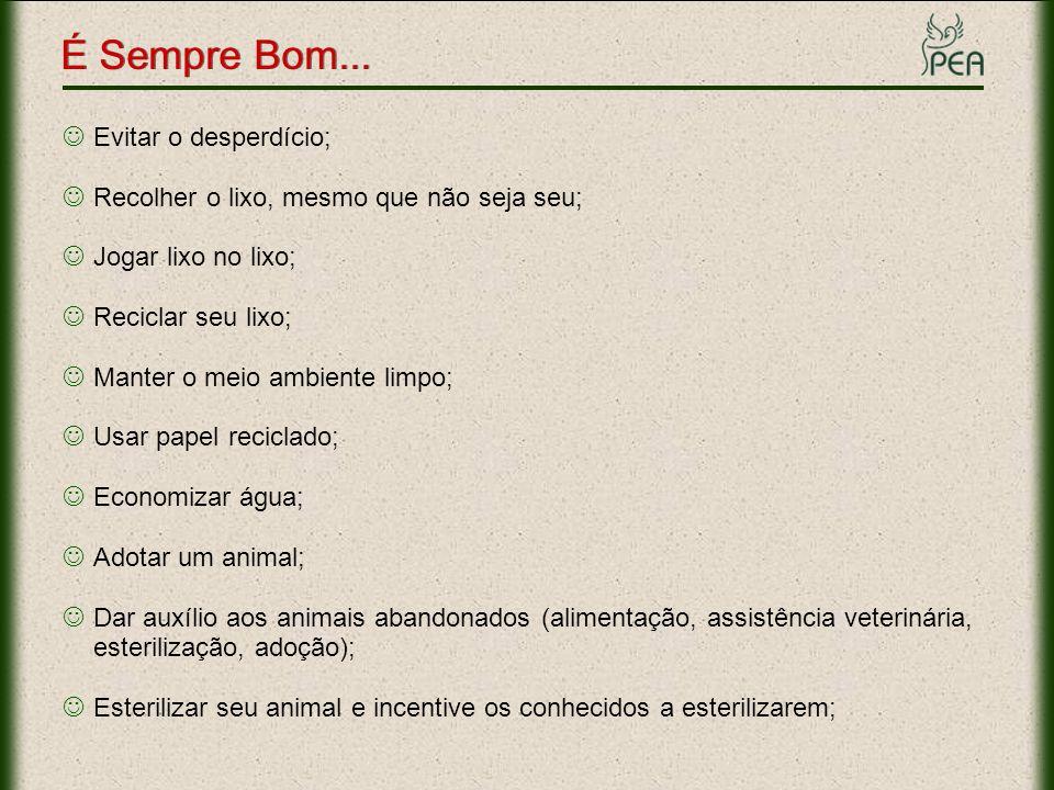 Não comprar e nem vender animais; Não aprisionar animal (pássaros em gaiolas e peixes em aquários).