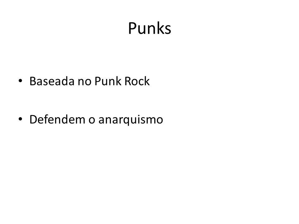 Punks Baseada no Punk Rock Defendem o anarquismo