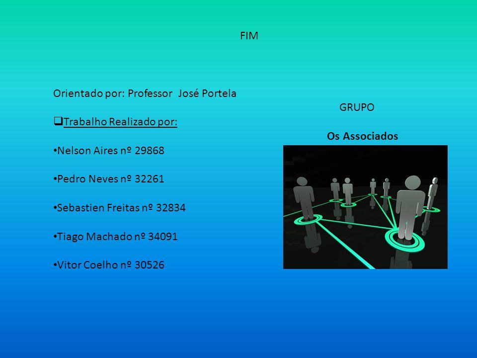 FIM Orientado por: Professor José Portela GRUPO Trabalho Realizado por: Os Associados Nelson Aires nº 29868 Pedro Neves nº 32261 Sebastien Freitas nº