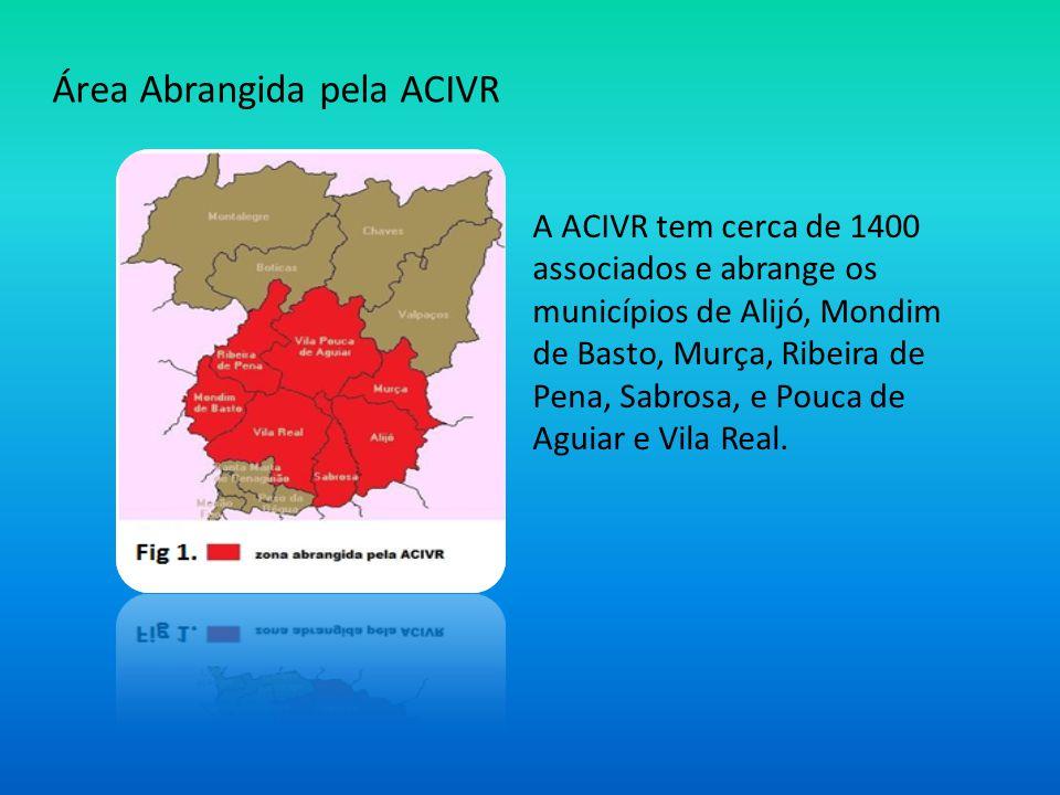 Área Abrangida pela ACIVR A ACIVR tem cerca de 1400 associados e abrange os municípios de Alijó, Mondim de Basto, Murça, Ribeira de Pena, Sabrosa, e P