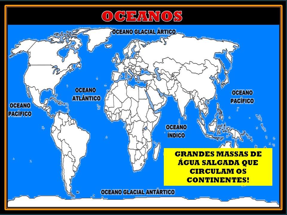 SÃO PORÇÕES DO OCEANO QUE SE ENCONTRAM NO INTERIOR DO CONTINENTE OU PRÓXIMO A ELE. MARES: