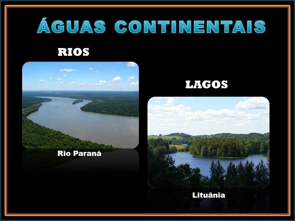 RIOS Rio Paraná LAGOS Lituânia
