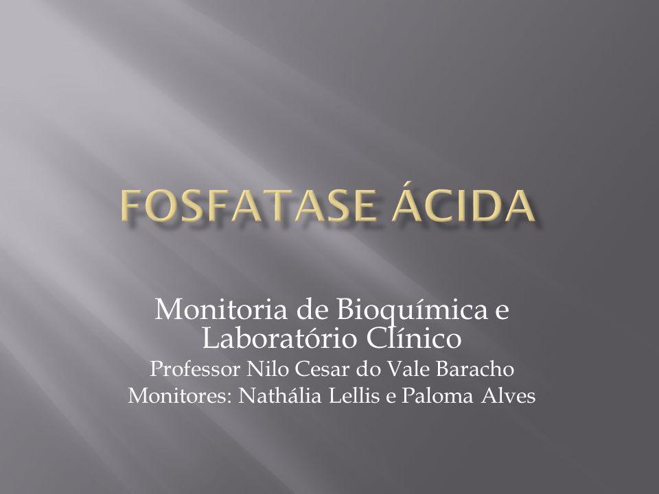 Monitoria de Bioquímica e Laboratório Clínico Professor Nilo Cesar do Vale Baracho Monitores: Nathália Lellis e Paloma Alves