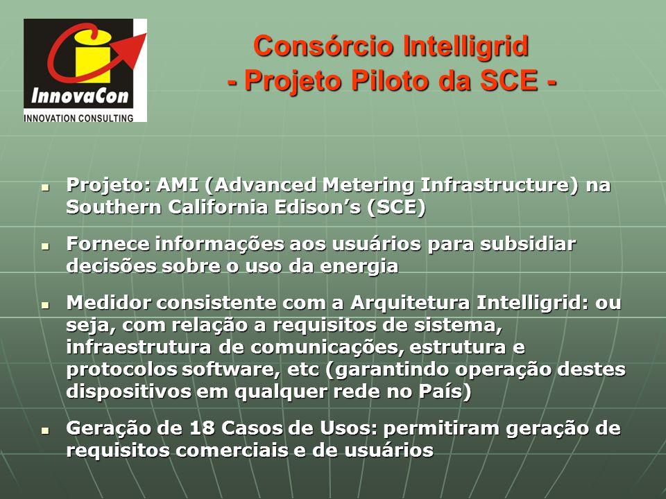 Consórcio Intelligrid - Projeto Piloto da SCE - Projeto: AMI (Advanced Metering Infrastructure) na Southern California Edisons (SCE) Projeto: AMI (Adv