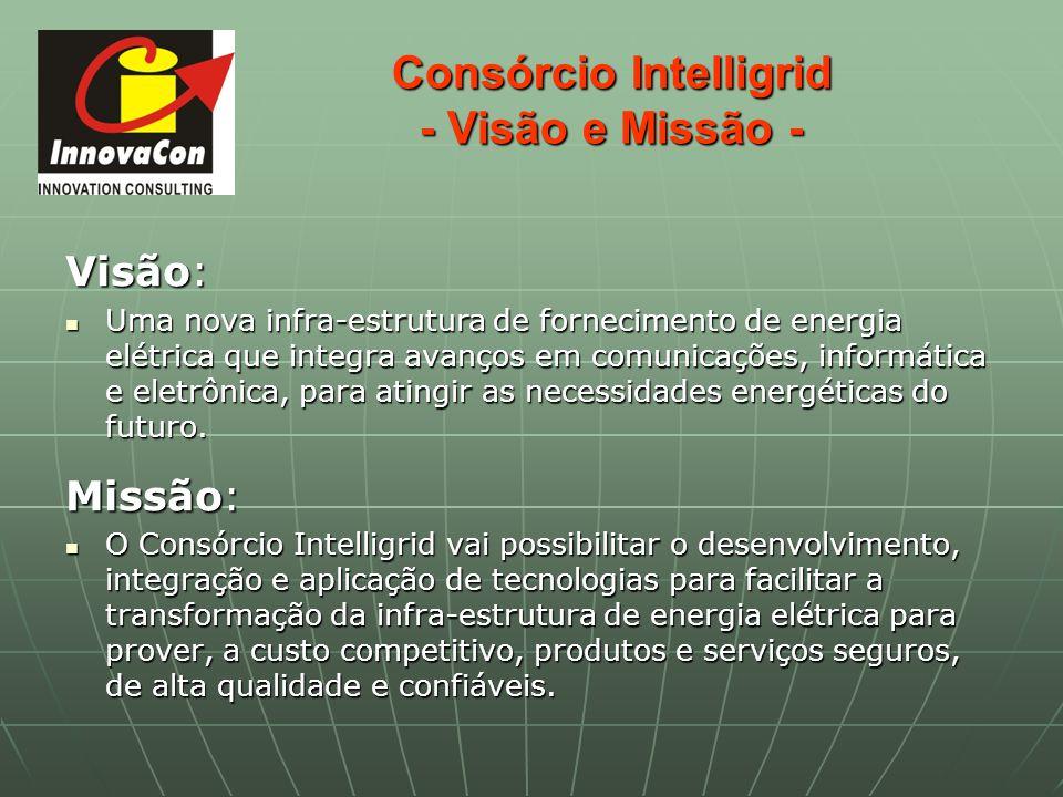 Consórcio Intelligrid - Visão e Missão - Visão: Uma nova infra-estrutura de fornecimento de energia elétrica que integra avanços em comunicações, info
