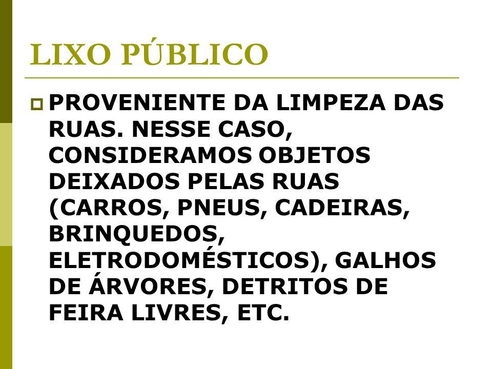 LIXO PÚBLICO PROVENIENTE DA LIMPEZA DAS RUAS.