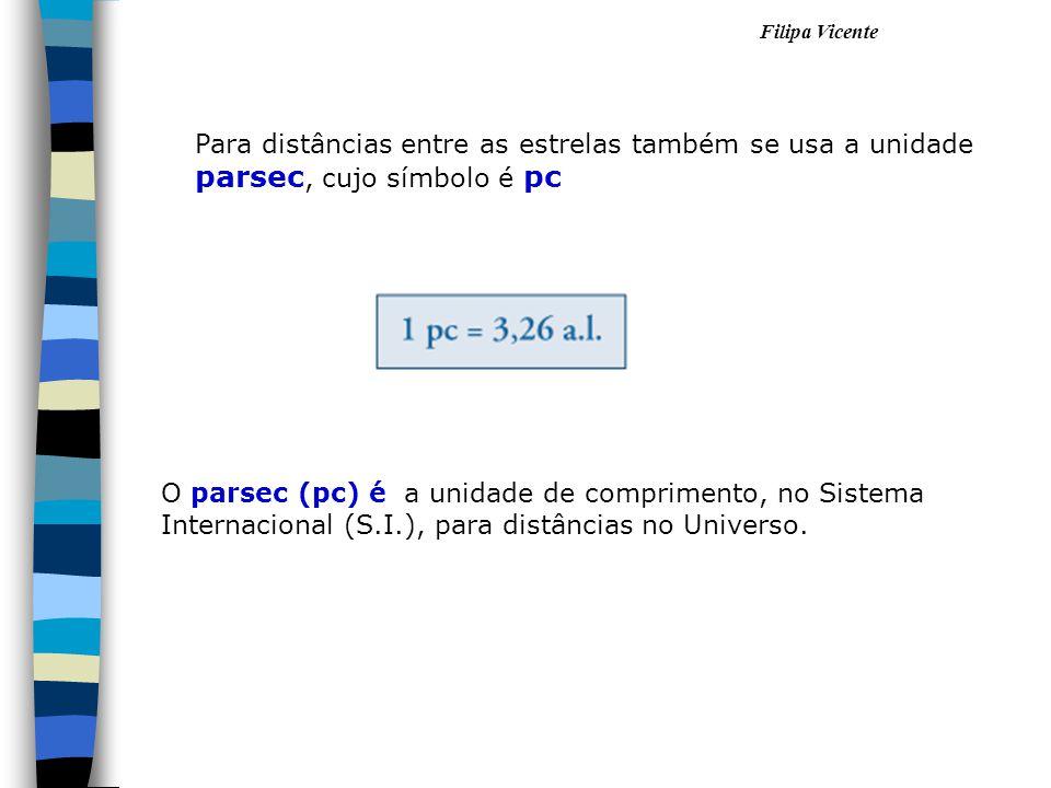 O parsec (pc) é a unidade de comprimento, no Sistema Internacional (S.I.), para distâncias no Universo. Para distâncias entre as estrelas também se us