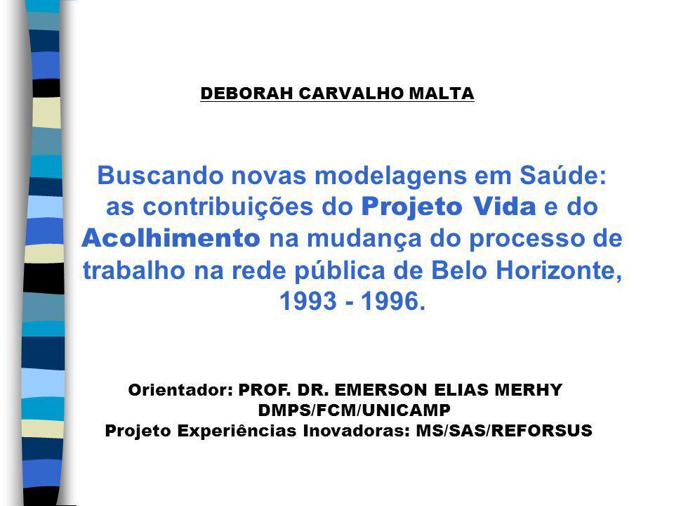 1- Introdução n Distintos projetos de intervenção/organização da produção da saúde disputam a hegemonia.