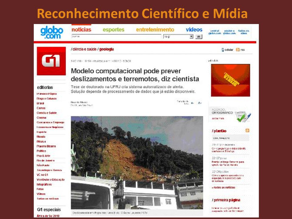 Reconhecimento Científico e Mídia