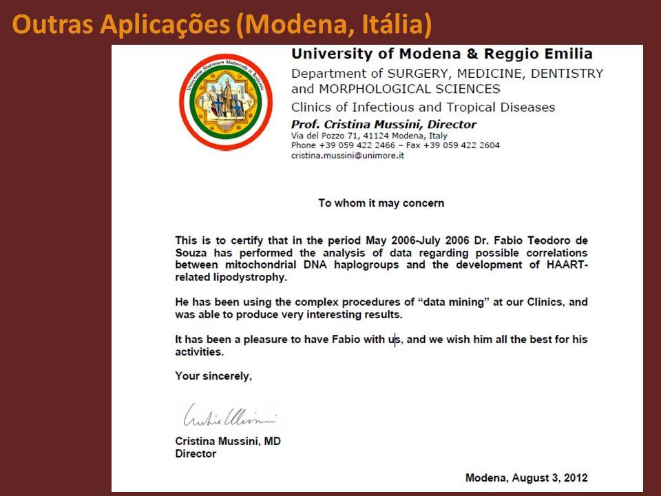 Outras Aplicações (Modena, Itália)