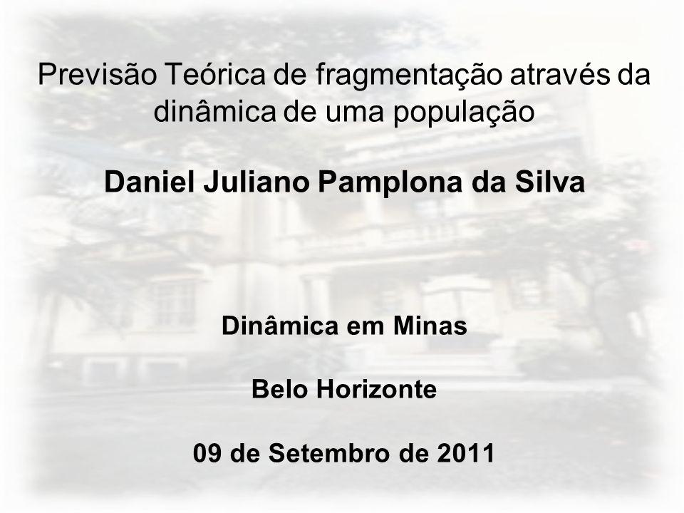 Previsão Teórica de fragmentação através da dinâmica de uma população Daniel Juliano Pamplona da Silva Dinâmica em Minas Belo Horizonte 09 de Setembro de 2011