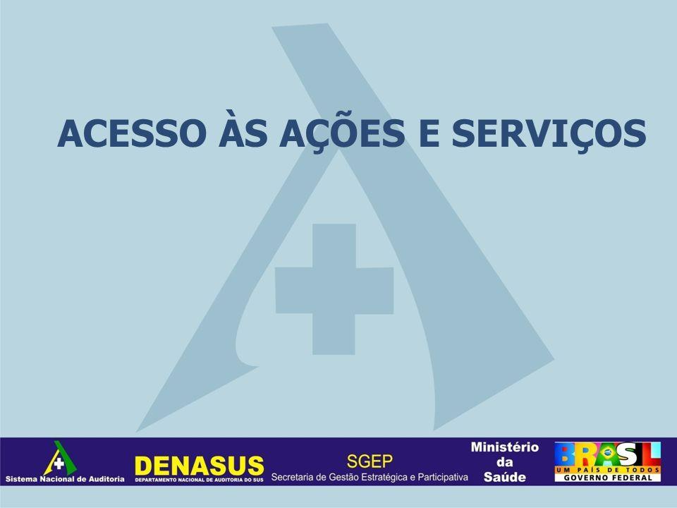 ACESSO ÀS AÇÕES E SERVIÇOS