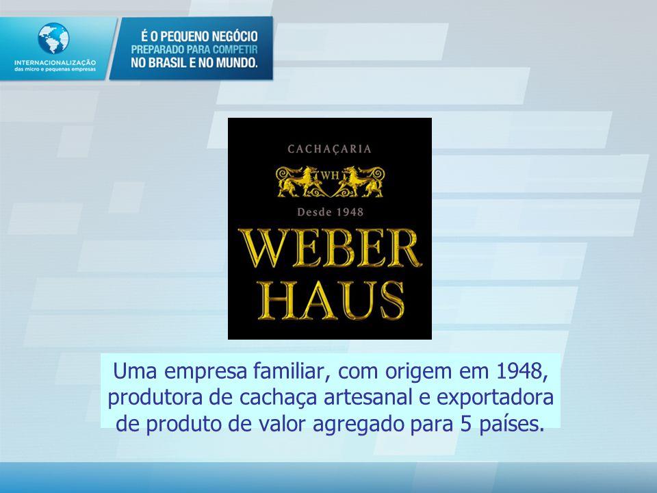 Uma empresa familiar, com origem em 1948, produtora de cachaça artesanal e exportadora de produto de valor agregado para 5 países.