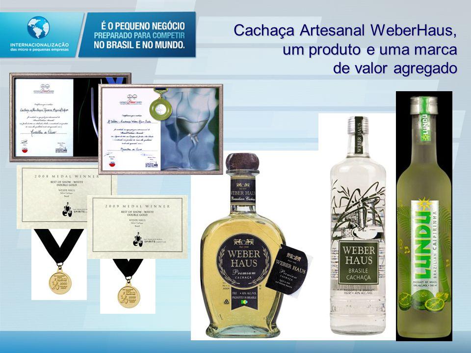 Cachaça Artesanal WeberHaus, um produto e uma marca de valor agregado