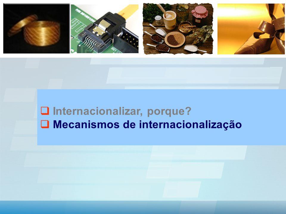 Internacionalizar, porque Mecanismos de internacionalização