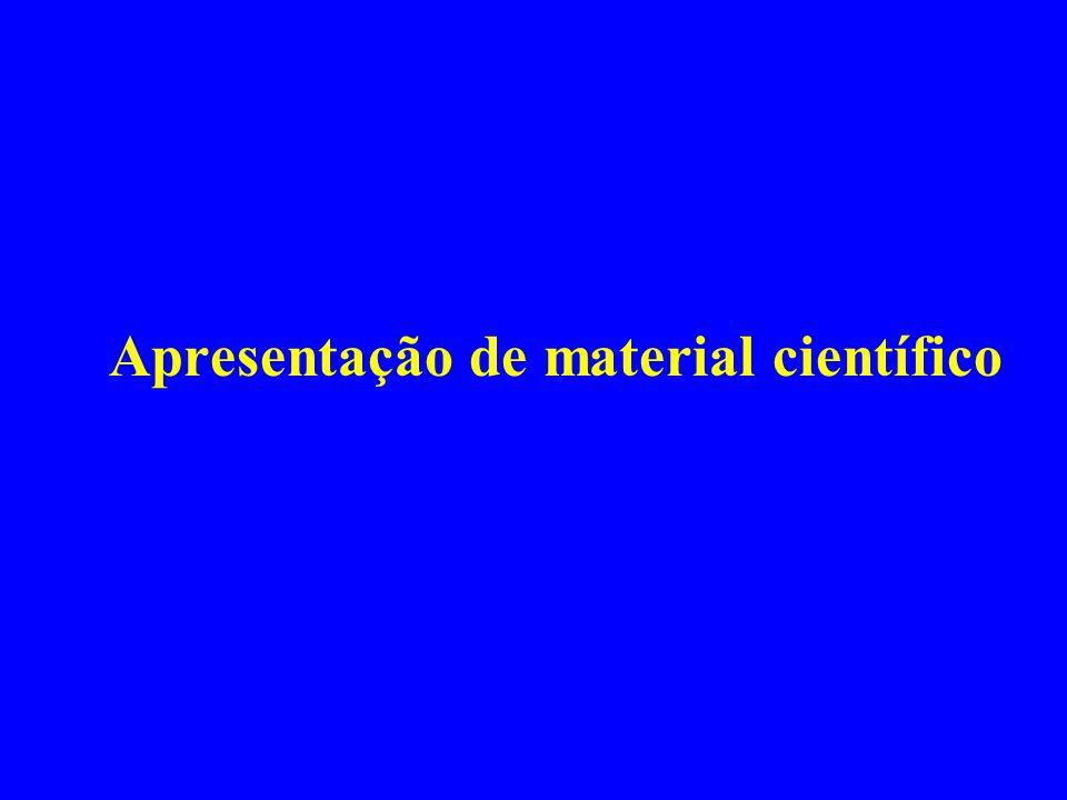 Apresentação de material científico