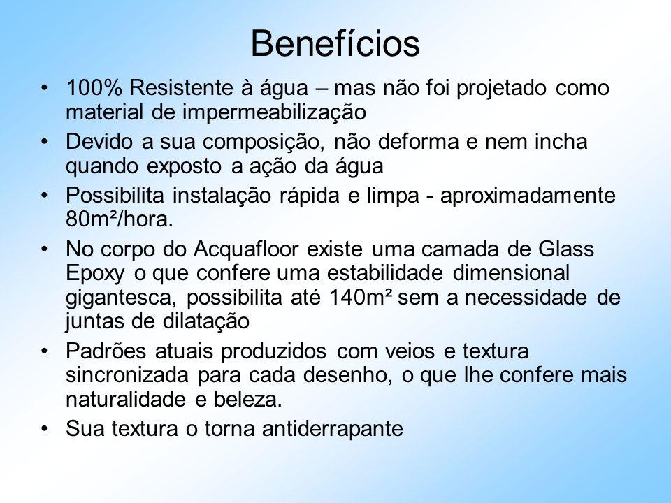 Benefícios Resiliência elástica – maior conforto para caminhar, além de ser indicado para o revestimento de locais suscetíveis a batidas e/ou rupturas por impacto como restaurantes, academias e supermercados.
