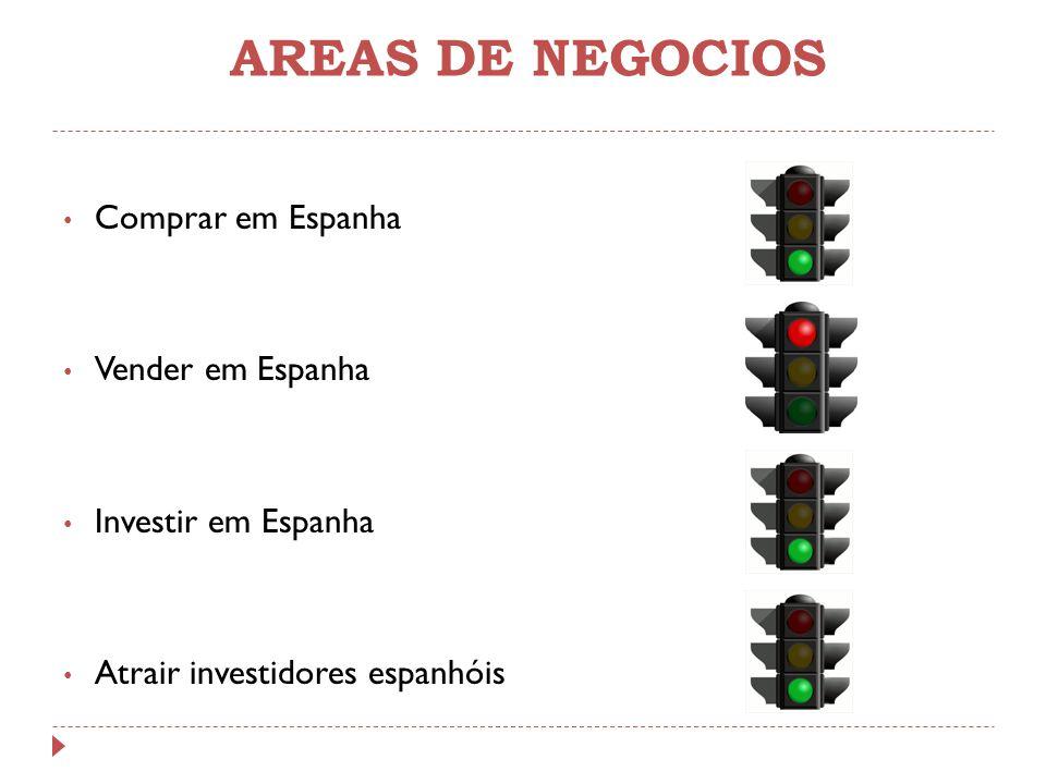 AREAS DE NEGOCIOS Comprar em Espanha Vender em Espanha Investir em Espanha Atrair investidores espanhóis