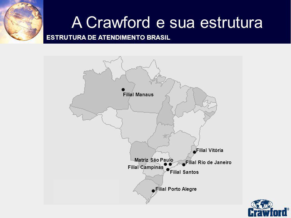 .. Filial Manaus Filial Porto Alegre..... Filial Vitória Filial Rio de Janeiro Matriz São Paulo Filial Campinas Filial Santos A Crawford e sua estrutu