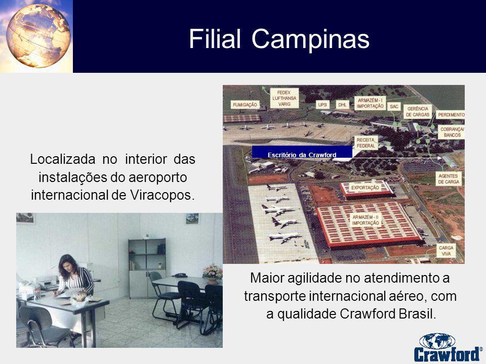 Localizada no interior das instalações do aeroporto internacional de Viracopos. Maior agilidade no atendimento a transporte internacional aéreo, com a