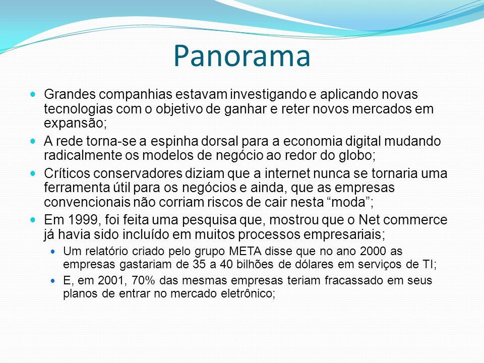 Panorama Grandes companhias estavam investigando e aplicando novas tecnologias com o objetivo de ganhar e reter novos mercados em expansão; A rede tor