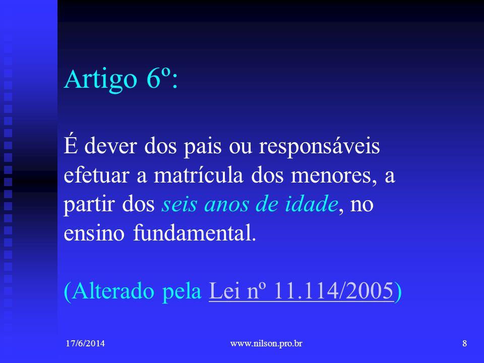 Parecer CNE/CEB nº 39Parecer CNE/CEB nº 39, de 08 de agosto de 2006 17/6/201429www.nilson.pro.br