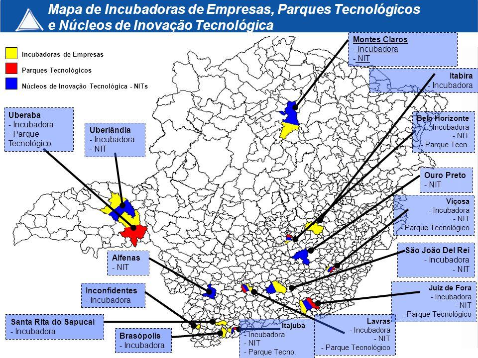 Uberlândia - Incubadora - NIT Uberaba - Incubadora - Parque Tecnológico Incubadoras de Empresas Parques Tecnológicos Núcleos de Inovação Tecnológica -