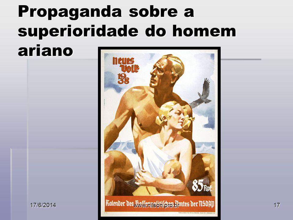 Propaganda sobre a superioridade do homem ariano 17/6/2014www.nilson.pro.br17